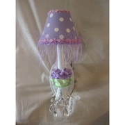 Silly Bear Baby Lavender Flower 1-Light Armed Sconce; Baby Lavender Bloom