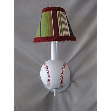 Silly Bear All Star Sports Baseball 1-Light Armed Sconce; Sports Stripe