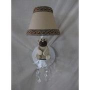 Silly Bear Teddy Time 1-Light Armed Sconce; Teddy Time