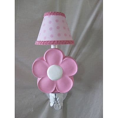 Silly Bear Daisy Delight 1-Light Candle Wall Light; Lace Shawl