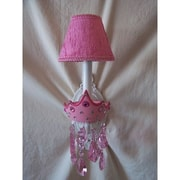 Silly Bear Glamour Girl Crowns 1-Light Armed Sconce; Fairest In The Land
