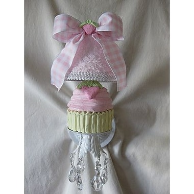 Silly Bear Yummy Cupcakes 1-Light Armed Sconce; Perfect Paisley