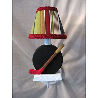 Silly Bear All Star Sports Hockey 1-Light Armed Sconce; Sports Stripe