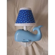 Silly Bear Baby Beluga 1-Light Armed Sconce; Boat Rocking Blue