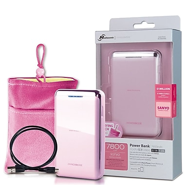 Mediasonic – Chargeur ProBox Universal Power Bank à deux USB, rose, HE1-78U2-PR