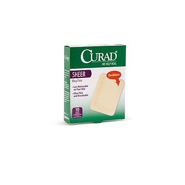 Curad® Adhesive Bandages, Sheer, XL Size, 3 3/4