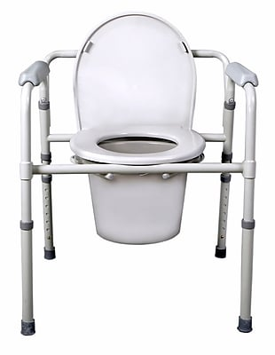 Medline Folding Steel Commode 521102