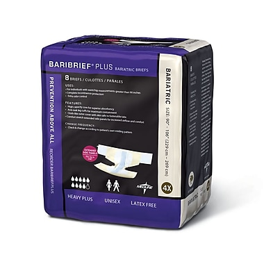 Medline® Baribrief® Plus Bariatric Briefs, 90-106