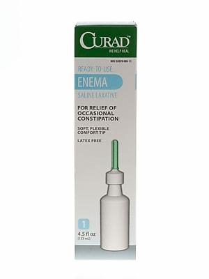 Medline® Curad® Sodium Phosphate Disposable Saline Enema, 133 ml, Bulk, 24/Pack