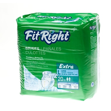 Medline® FitRight® 20/Pack Extra Clothlike Briefs