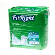 "Medline® FitRight® Extra Clothlike Briefs, XL (59"" - 66""), 20/Pack"