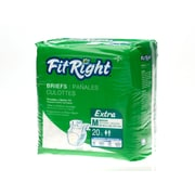 "Medline® FitRight® Extra Clothlike Briefs, Medium (32"" - 42""), 80/Pack"