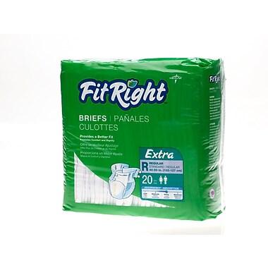Medline® FitRight® Extra Clothlike Briefs, Regular (40