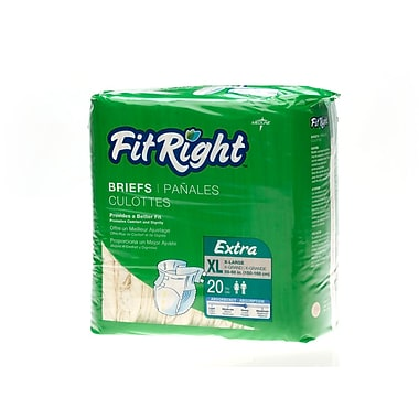 Medline® FitRight® Extra Clothlike Briefs, XL (59