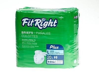 Medline® FitRight® Plus Clothlike Briefs, Large (48