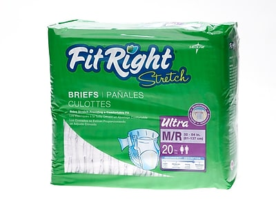 Medline® FitRight® Ultra Stretch Clothlike Briefs, Medium/Regular (32