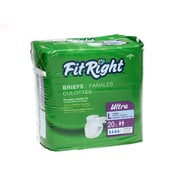 "Medline® FitRight® Ultra Clothlike Briefs, Regular (40"" - 50""), 20/Pack"