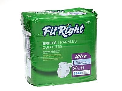 Medline® FitRight® Ultra Clothlike Briefs, Medium (32