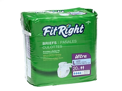 Medline® FitRight® Ultra Clothlike Briefs, Regular (40