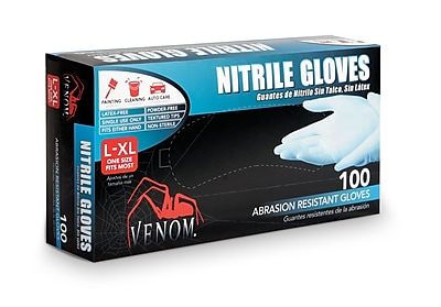Medline® Venom™ Powder-Free Nitrile Gloves, Blue, Large/XL