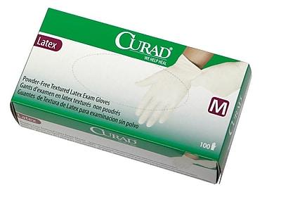 Medline® Curad® Powder-Free Textured Latex Exam Gloves, Beige, Large