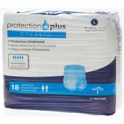 "Medline® Protection Plus® Classic Protective Underwear, Large (40"" - 56""), 18/Bag"
