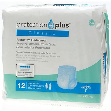 Medline® Protection Plus® Classic Protective Underwear, 2XL (68