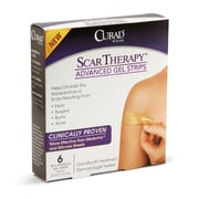 "Medline® Curad® Scar Therapy™ Advanced Gel Strips, 1"" x 3"", 24/Pack"