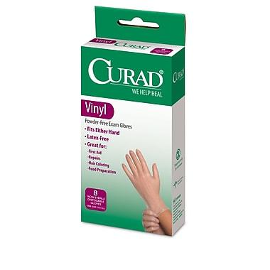 Medline® Curad® Latex-Free Exam Vinyl Gloves, One Size, 8/Pack