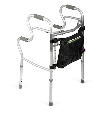 Medline® 3-in-one Two-Button Adult Stand-Assist Walker With Bag, 32