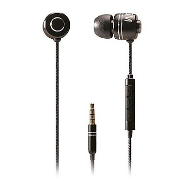 BOOM Commander In-Ear Headphone With 3 Button Mic, Black