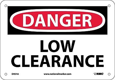 Danger, Low Clearance, 7X10, .040 Aluminum