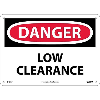 Danger, Low Clearance, 10X14, .040 Aluminum