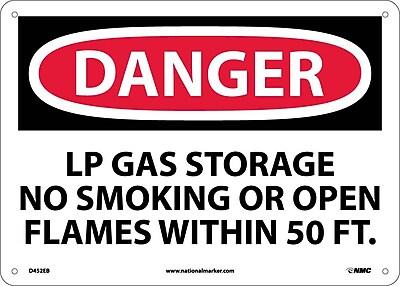 Danger, Lp Gas Storage No Smoking Or Open. . ., 10X14, Fiberglass