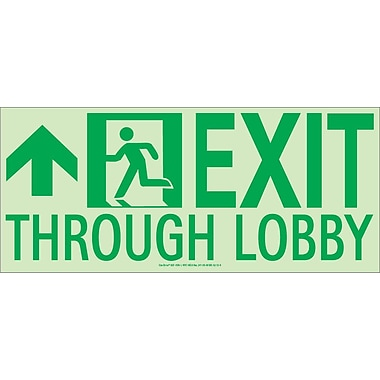 NYC Exit Through Lobby Sign, Forward Left Side, 7