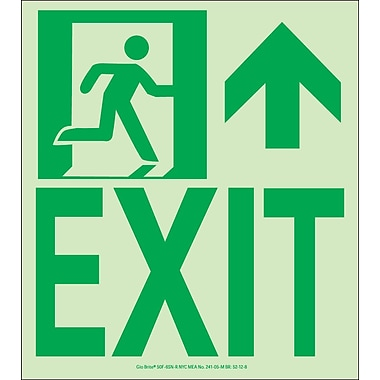 NYC Wall Mount Exit Sign, Forward/Right Side, 9