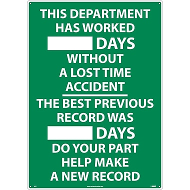 This Department Has Worked ...Days.., 28