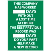 This Company Has Worked ..Days. . ., 28X20, .040 Alum