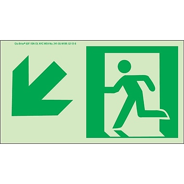 NYC Directional Sign, Down Left, 4.5