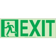 NYC Door Mount Exit Sign, Left, 4.5X13, Flex, 7550 Glow Brite, MEA Approved