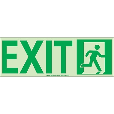 NYC Door Mount Exit Sign, Right, 4.5