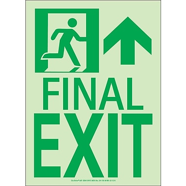 NYC Final Exit Sign, Forward/Right Side, 11