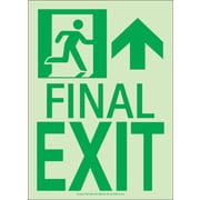 NYC Final Exit Sign, Forward/Right Side, 11X8, Flex, 7550 Glow Brite, MEA Approved