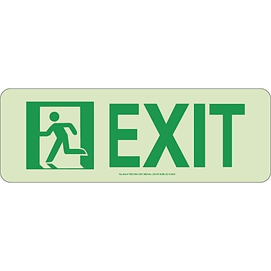 NYC Door Mount Exit Sign, Left, 4.5
