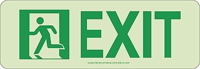 NYC Door Mount Exit Sign, Left, 4.5X13, Rigid, 7550 Glow Brite, MEA Approved