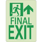 Nyc Final Exit Sign, Forward/Right Side, 11X8, Rigid, 7550 Glo Brite, Mea Approved