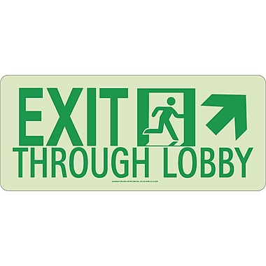 NYC Exit Through Lobby Sign, Up Right, 7
