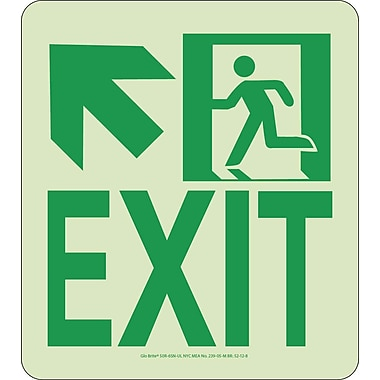NYC Wall Mont Exit Sign, Up Left, 9