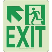 NYC Wall Mont Exit Sign, Up Left, 9X8, Rigid, 7550 Glow Brite, MEA Approved