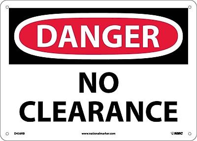 Danger, No Clearance, 10X14, Rigid Plastic
